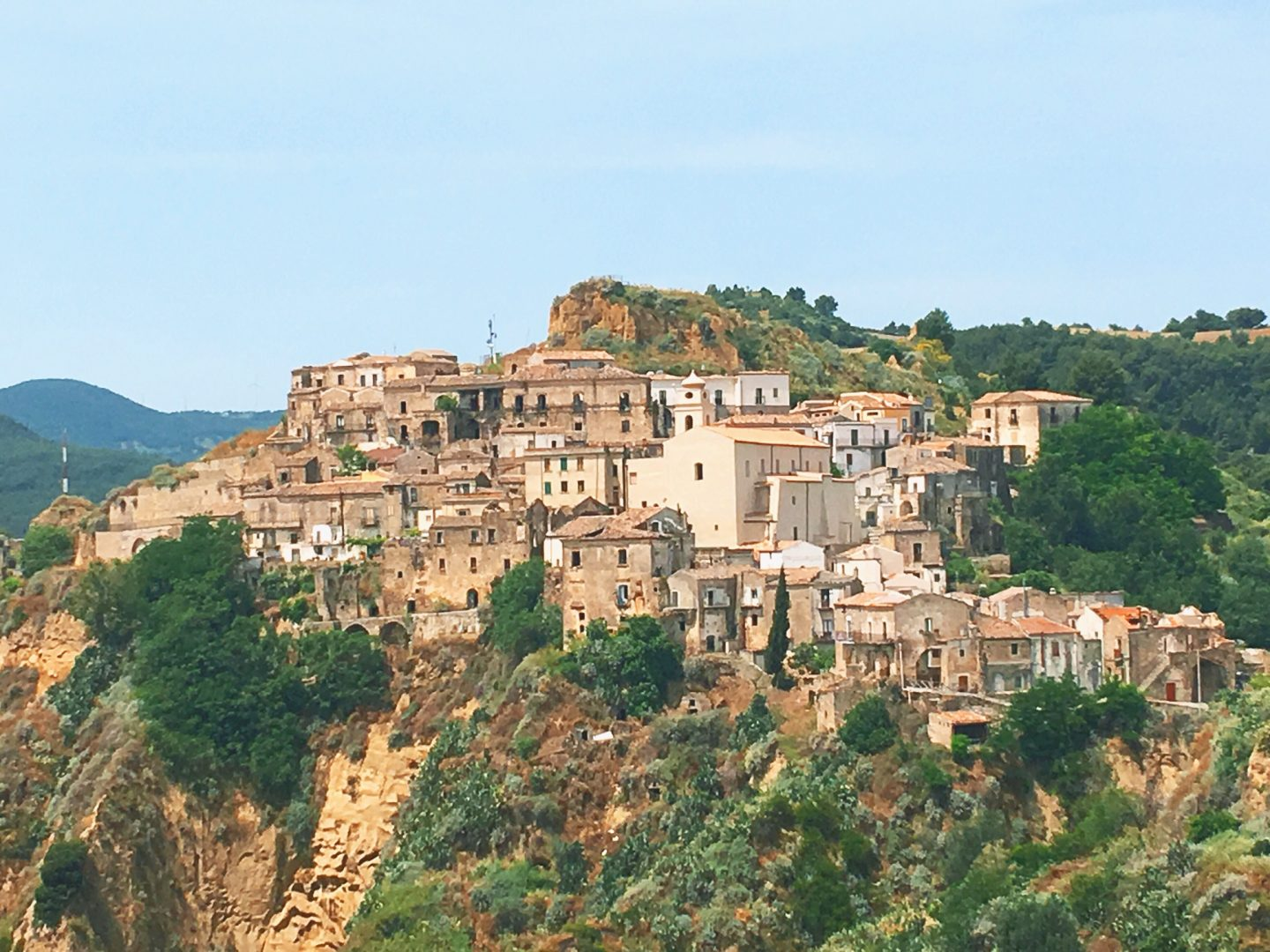 The town of La Rabatana in Trsi, Basilicata, southern Italy