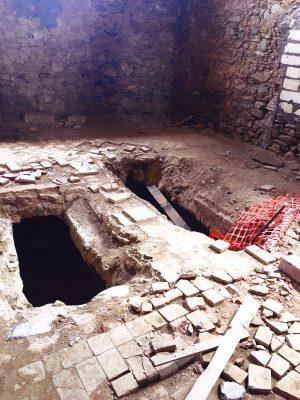 empty tombs in the Convento San Francesco in Tursi, basilicata