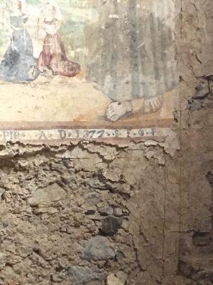 frescoe in Convento San Francesco, Basilicata, dated to 1377 A.D