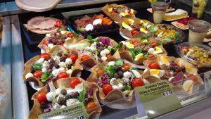 fresh salads at autogrille in Italy