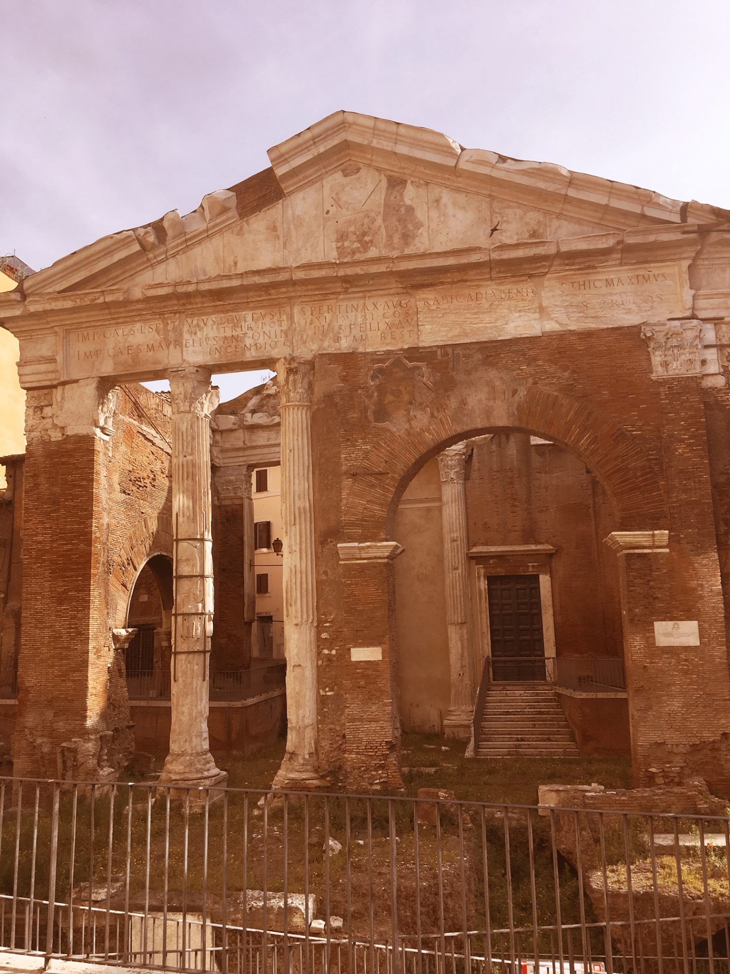 The Porticus of Octavia in Rome