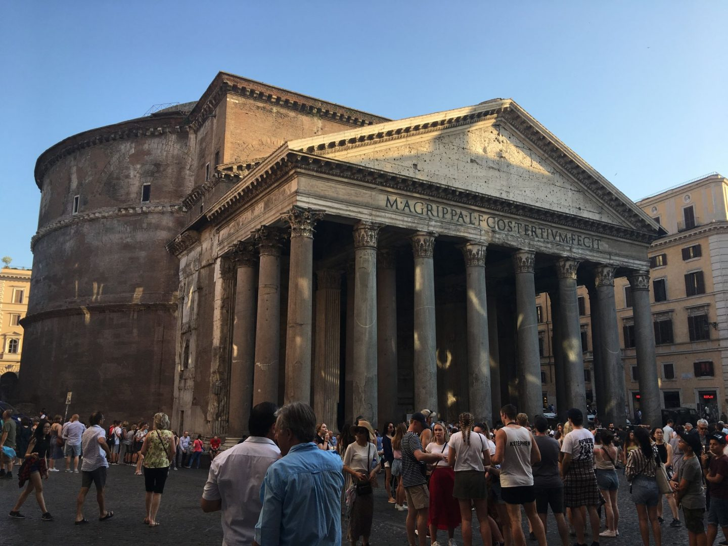 The Pantheon in Rome was built 2000 years ago by emperor Hadrian.