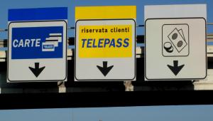 toll booth on italian highway