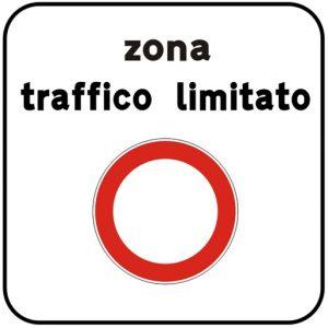 Italy ZTL sign zona traffico limitato