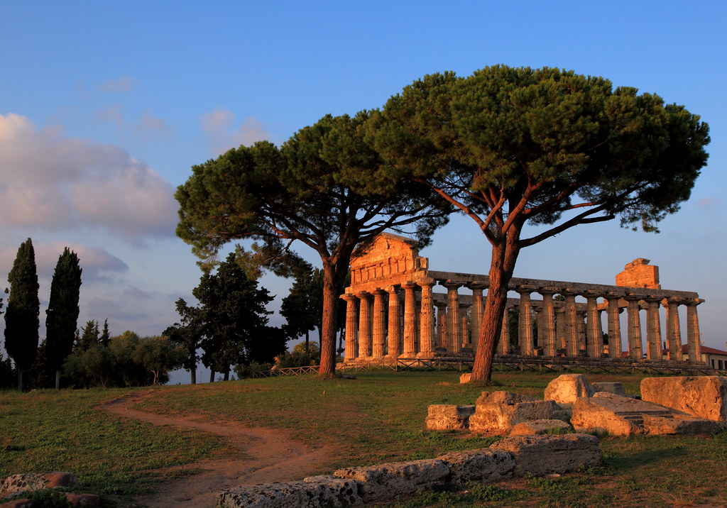 Paestum at Sunset