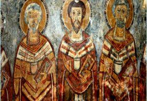 Byzantine frescoes at Badia Santa Maria di Pattano