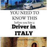 what you need to know befofre hiring a private driver in Italy