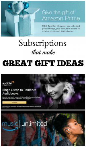 subscription gift ideas