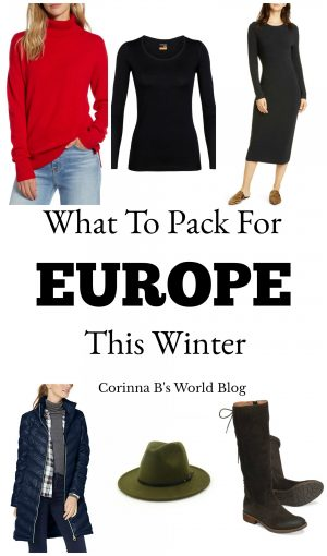 essential items to pack for Europe this winter