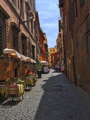 side street in Rome's Trastevere district