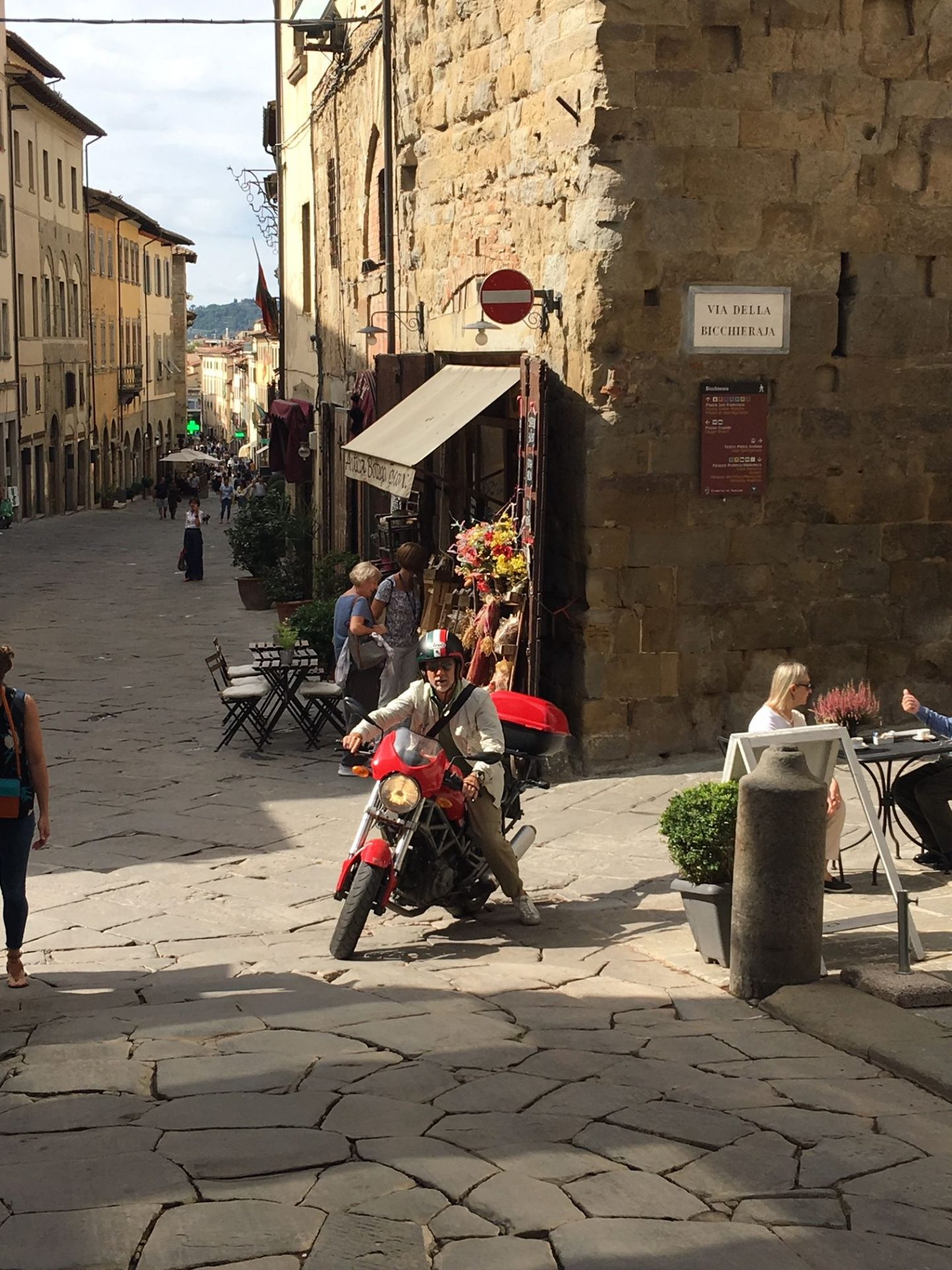 scooter in Arezzo, Tuscany