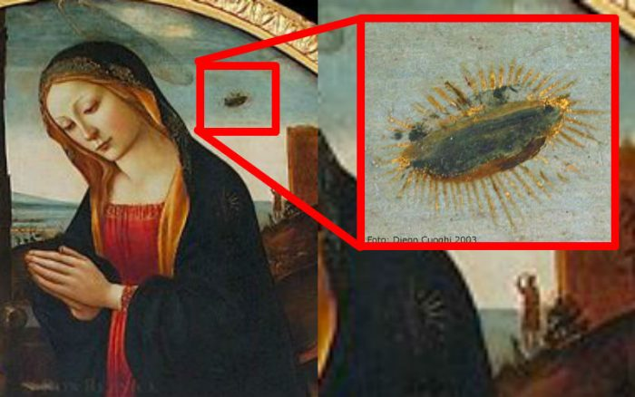 Madonna and child with John the Baptist and UFO, Palazzo Vecchio, Florence