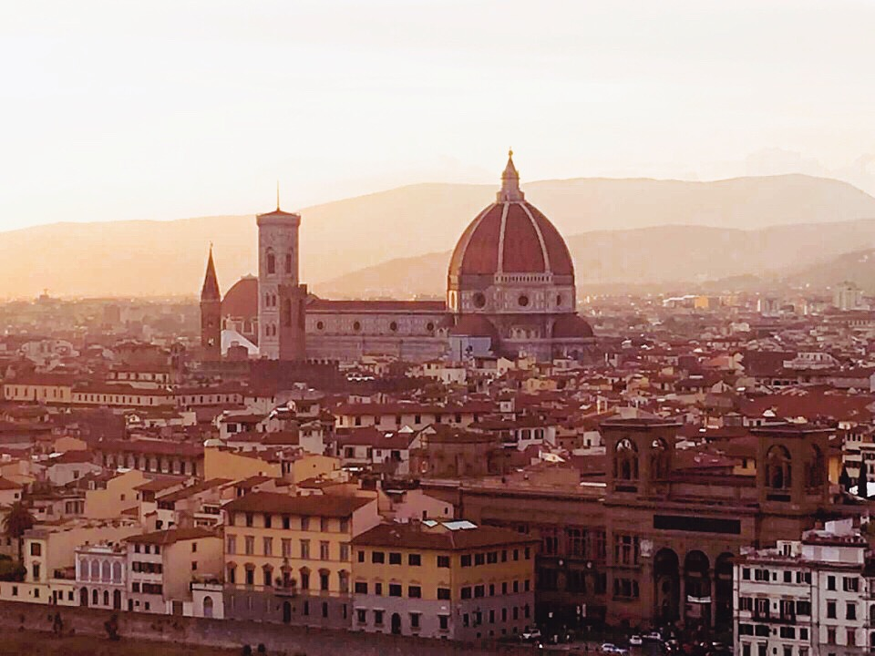 Florence Duomo view from Piazzale Michelangelo