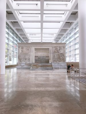 The Ara Pacis in Rome. A celebration of peace brought by Emperor Augustus