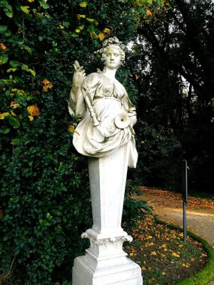 statues in the gardens of caserta palace