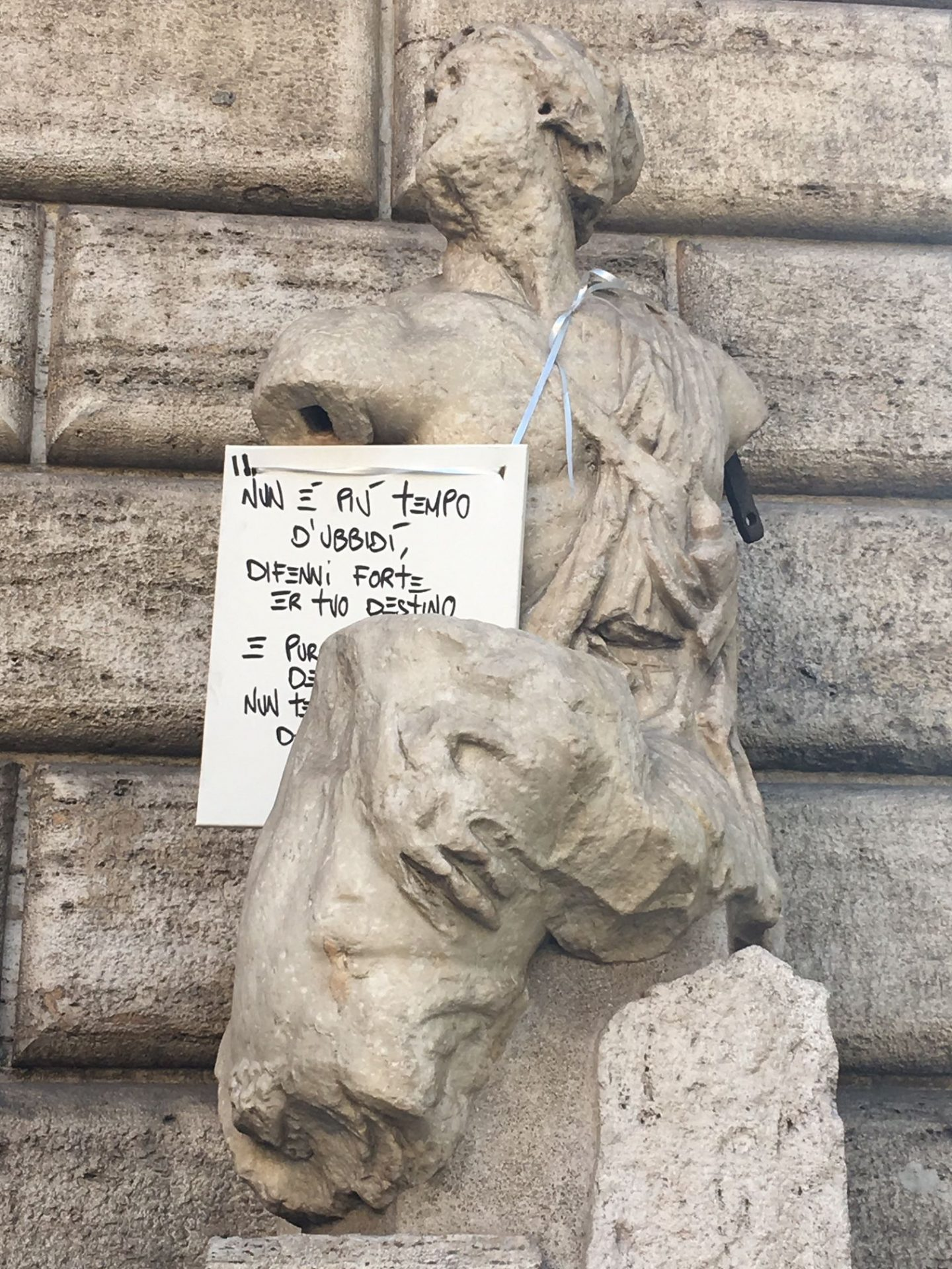 Pasquino the talking Statue of Rome