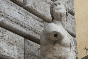 Ancient greek statue in rome
