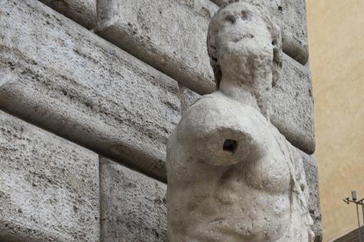 Pasquino's face, Rome