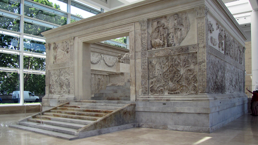 The Ara Pacis in Rome. Augustus's altar to peace
