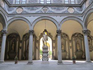 Inner courtyard Medici Riccardi palace Florence
