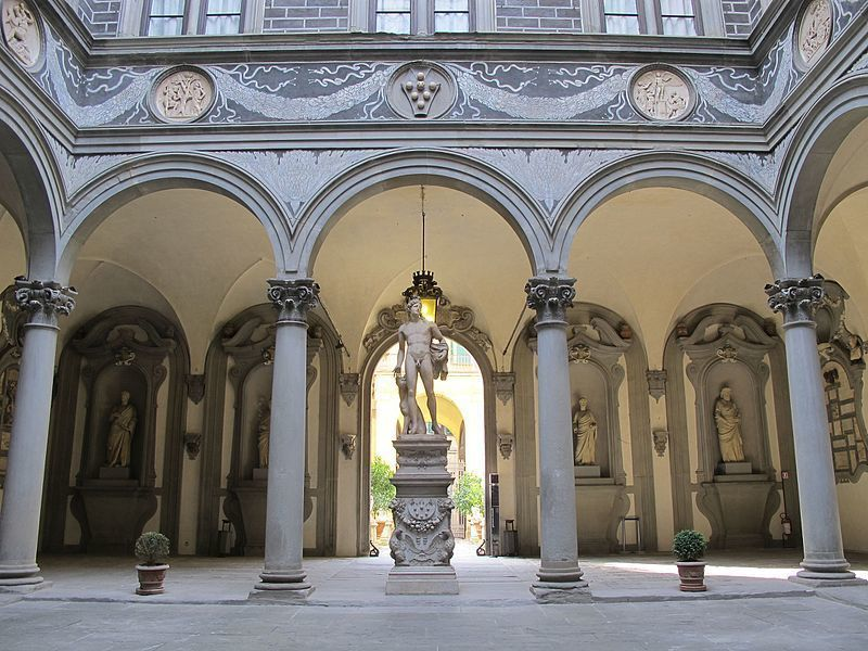 Inner courtyard Medici Riccardi palace Florence