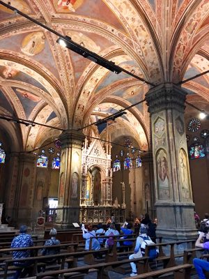 Interior of Orsanmichele in Florence