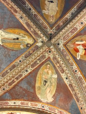 ceiling frescoes at Orsanmichele in Florence