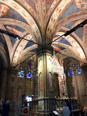 frescoed ceiling at Orsanmichele in Florence