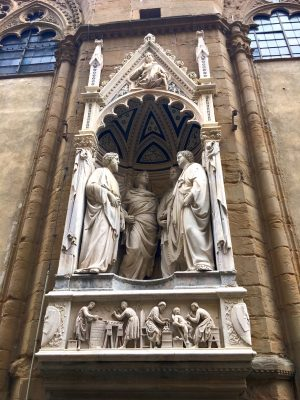 Four Crowned Saints sculpture by Nanni di Banco at Orsanmichele in Florence