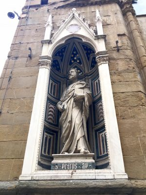 sculpture of St Peter by Donatello, Orsanmichele Florence