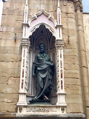 sculpture of St John the Baptist by Lorenzo Ghiberti at Orsanmichele in Florence