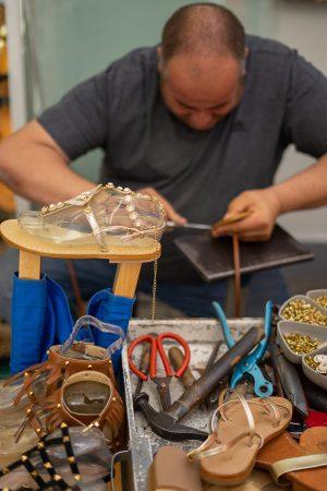 Artisan sandal maker in Positano