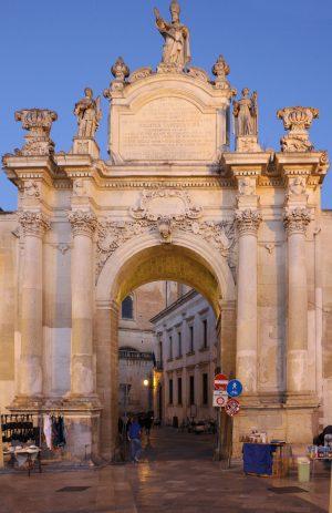 Porta Rudiae Lecce at night
