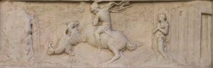 Donatello's relief below St George orsanmichele/Bargello