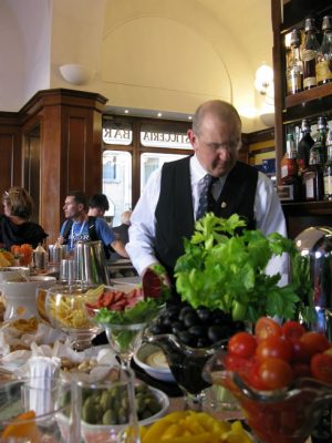 Luca Picchi head barman at Caffe Gilli in Florence