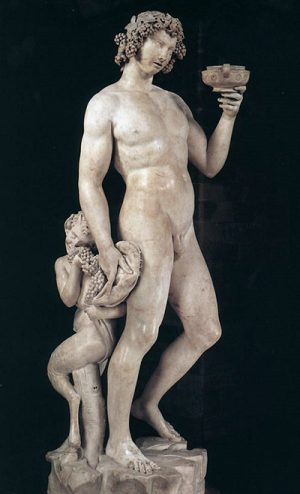 Michelangelo Bacchus at the Bargello Museum in Florence