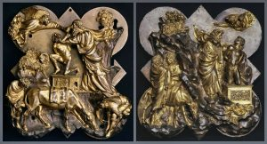 competion panels for the bronze doors of the Baptistery