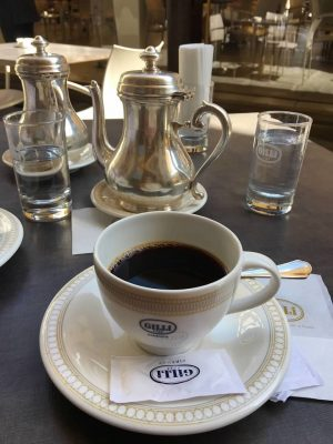 Coffee at Caffe Gilli in Florence
