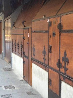 Ponte Vecchio shutter doors on shops