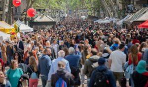 Las Ramblas Barcelona crowds