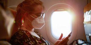 masks on planes