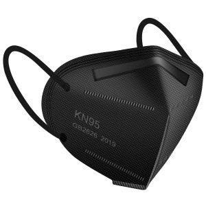 black KN95 mask