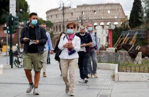 Travelers masks Rome